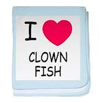 I heart clownfish baby blanket