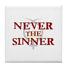 Sinner Love Tile Coaster