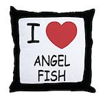 I heart angelfish Throw Pillow