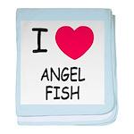 I heart angelfish baby blanket
