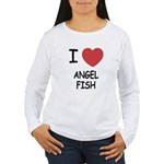 I heart angelfish Women's Long Sleeve T-Shirt
