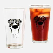 Big Nose Aussie Drinking Glass