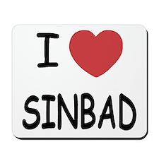 I heart sinbad Mousepad