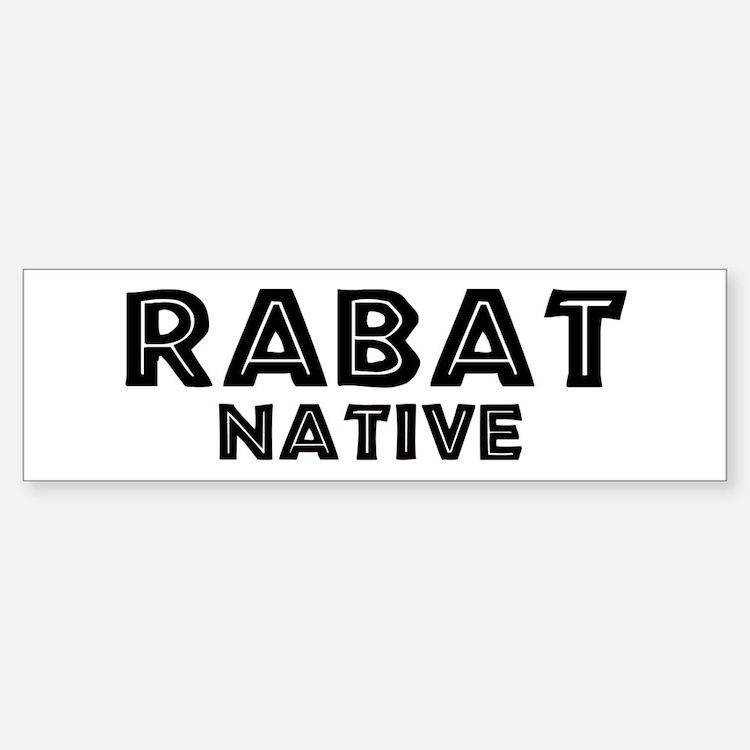 Rabat Native Bumper Bumper Bumper Sticker