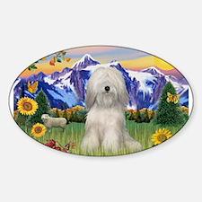 Tibetan Terrier in Mt. Countr Sticker (Oval)