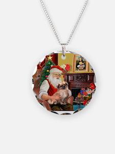 Santa's Tibetan Spaniel #4 Necklace