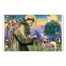 St. Francis & Tibetan Spaniel Decal
