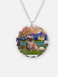 Tibetan Spaniel in Fantasy La Necklace