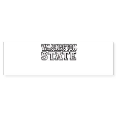 Washington State Sticker (Bumper)