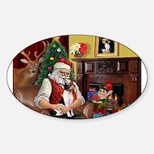 Santa & Toy Fox Terrier Decal