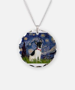 Starry Night & Toy Fox Terrie Necklace