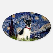 Starry Night & Toy Fox Terrie Decal