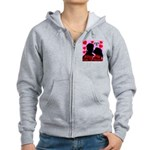 Kiss Me Under The Mistletoe Women's Zip Hoodie