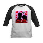 Kiss Me Under The Mistletoe Kids Baseball Jersey