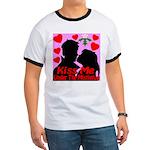 Kiss Me Under The Mistletoe Ringer T