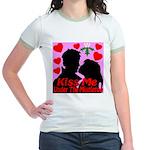 Kiss Me Under The Mistletoe Jr. Ringer T-Shirt