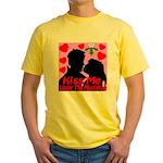 Kiss Me Under The Mistletoe Yellow T-Shirt