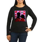 Kiss Me Under The Mistletoe Women's Long Sleeve Da