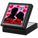 Kiss Me Under The Mistletoe Keepsake Box