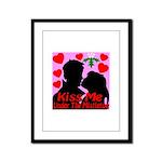 Kiss Me Under The Mistletoe Framed Panel Print
