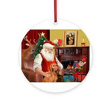Santa's Vizsla Ornament (Round)