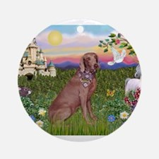 The Kings Weimaraner Ornament (Round)