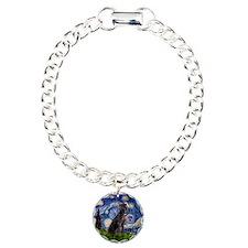 Starry Night Weimaraner Charm Bracelet, One Charm