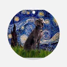 Starry Night Weimaraner Ornament (Round)