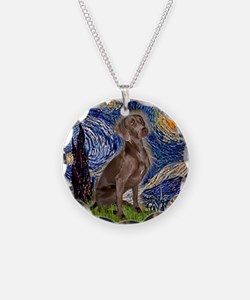 Starry Night & Weimaraner (Nv Necklace