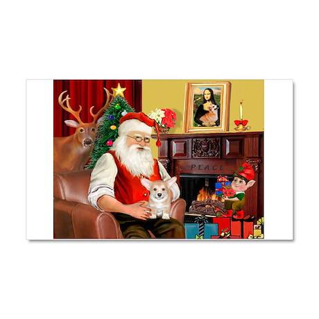Santa's Corgi Puppy Car Magnet 20 x 12