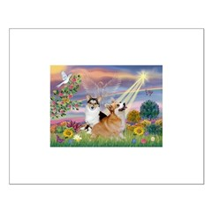 Cloud Angel & Corgi (Pem) Posters
