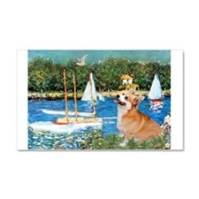 Monet's Sailboats Car Magnet 20 x 12