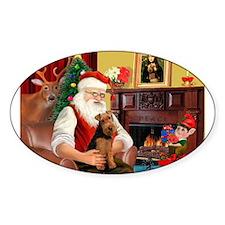 Santa's Welsh Terrier Decal