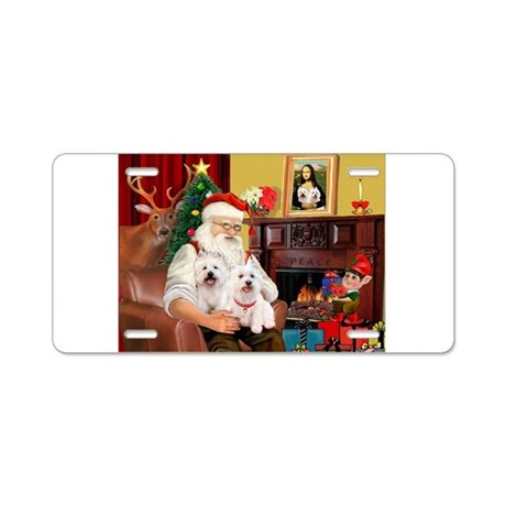 Santa/2 West Highland Aluminum License Plate