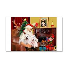 Santa/2 West Highland Car Magnet 20 x 12