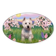 Blossoms & Westie Decal