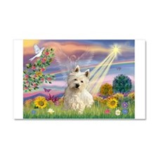 Cloud Angel/Westie #1 Car Magnet 20 x 12