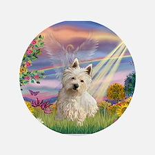 """Cloud Angel/Westie #1 3.5"""" Button"""