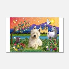 Fantasy Land Westie Car Magnet 20 x 12