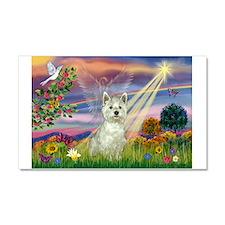 Cloud Angel / Westie Car Magnet 20 x 12