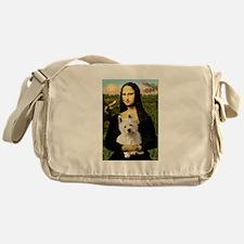 Mona and her Westie Messenger Bag