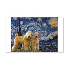 Starry Night & 2 Wheatens Car Magnet 20 x 12