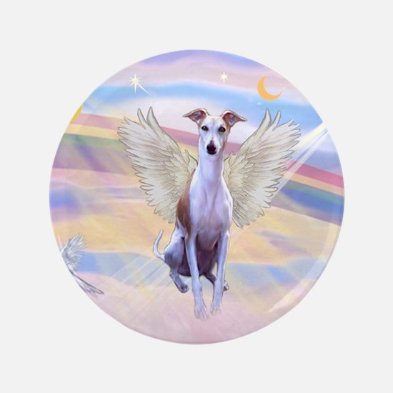 """Clouds / Whippet 3.5"""" Button"""