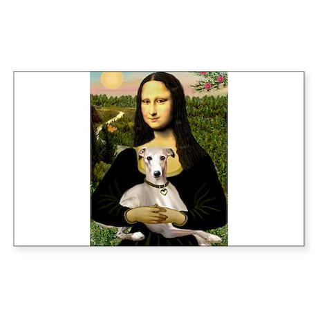 Mona & Whippet Sticker (Rectangle)