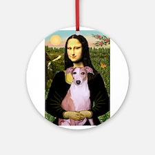 Mona's Whippet (#8) Ornament (Round)
