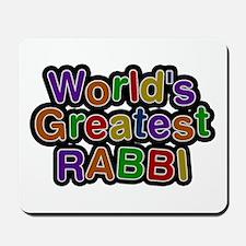 World's Greatest RABBI Mousepad