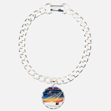XmasSunrise/Yorkie #9 Charm Bracelet, One Charm