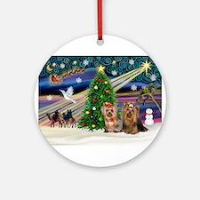 XmasMagic/Yorkies #6&7 Ornament (Round)