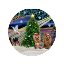 "XmasMagic/Yorkies #6&7 3.5"" Button"