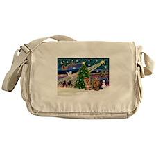XmasMagic/Yorkies #6&7 Messenger Bag